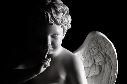Cupid is hushing