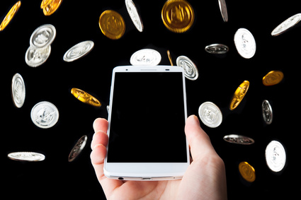 お金を稼ぐスマートフォン