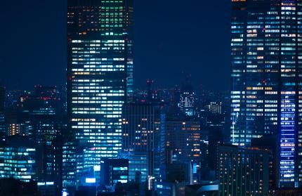 東京夜景・高層ビル群