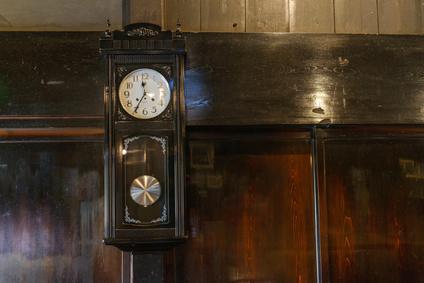 レトロな壁掛け時計