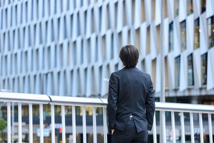 都会とビジネスマン