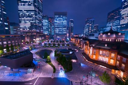 東京駅・夜景・丸の内