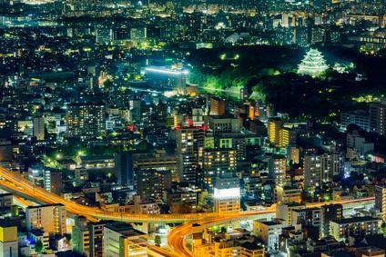 名古屋城の夜景