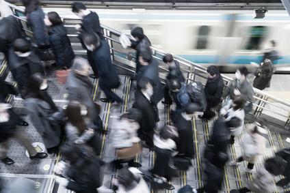 東京 通勤風景