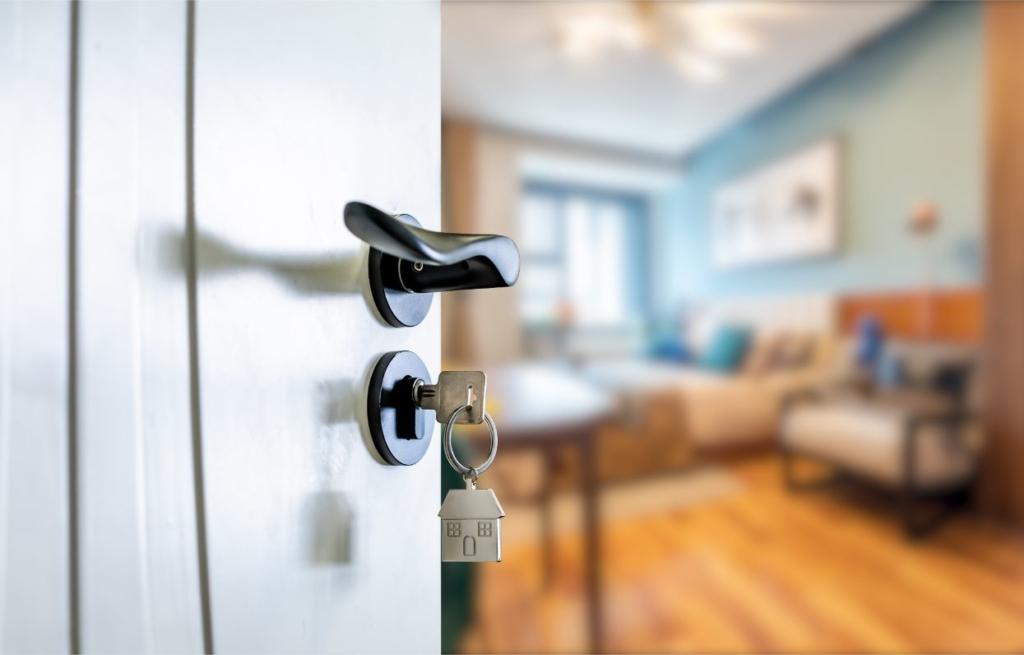 ドアに差した鍵
