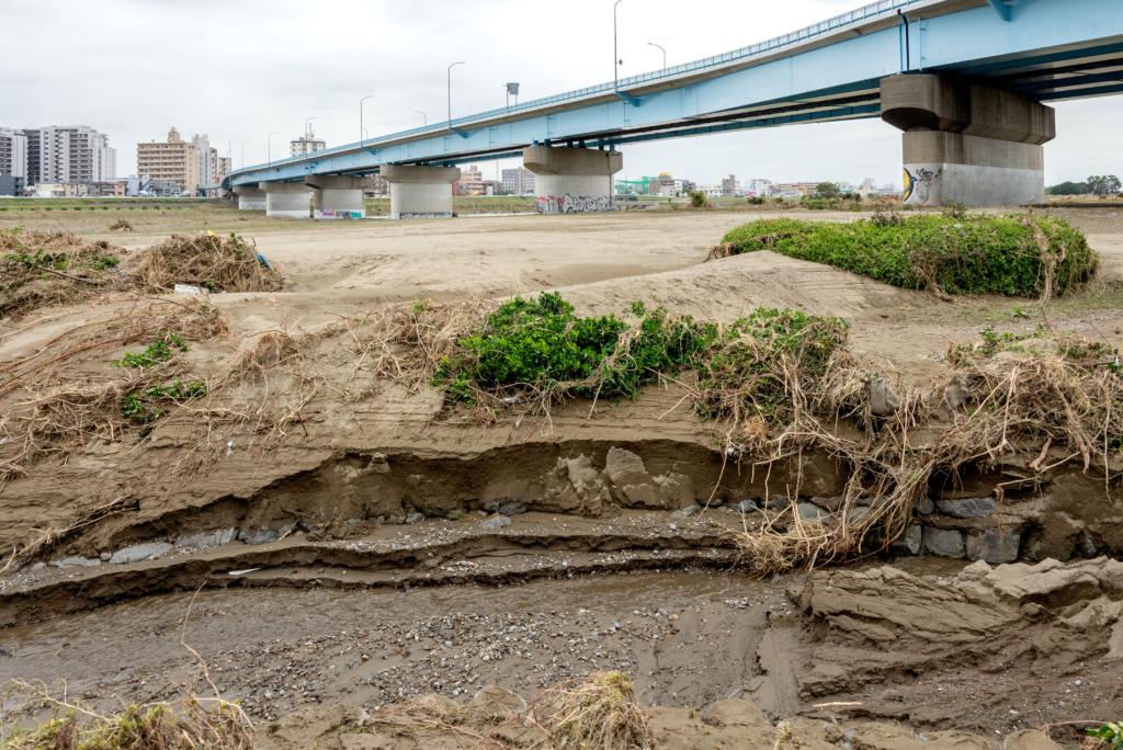 台風19号多摩川