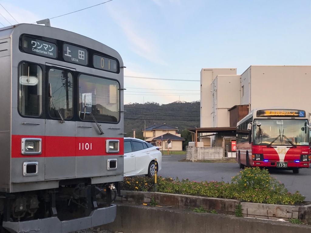 上田電鉄下之郷駅