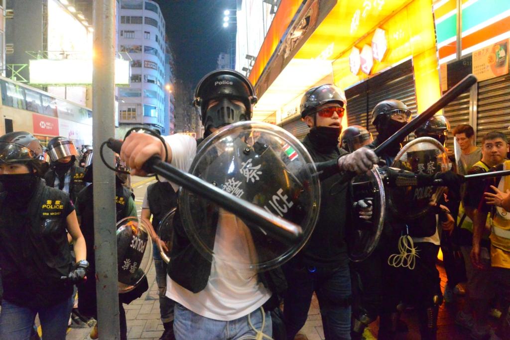 香港デモ_警察