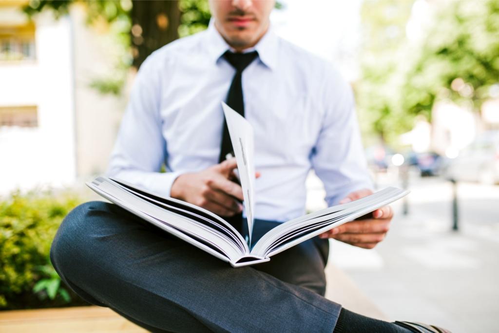 ビジネスマン 読書