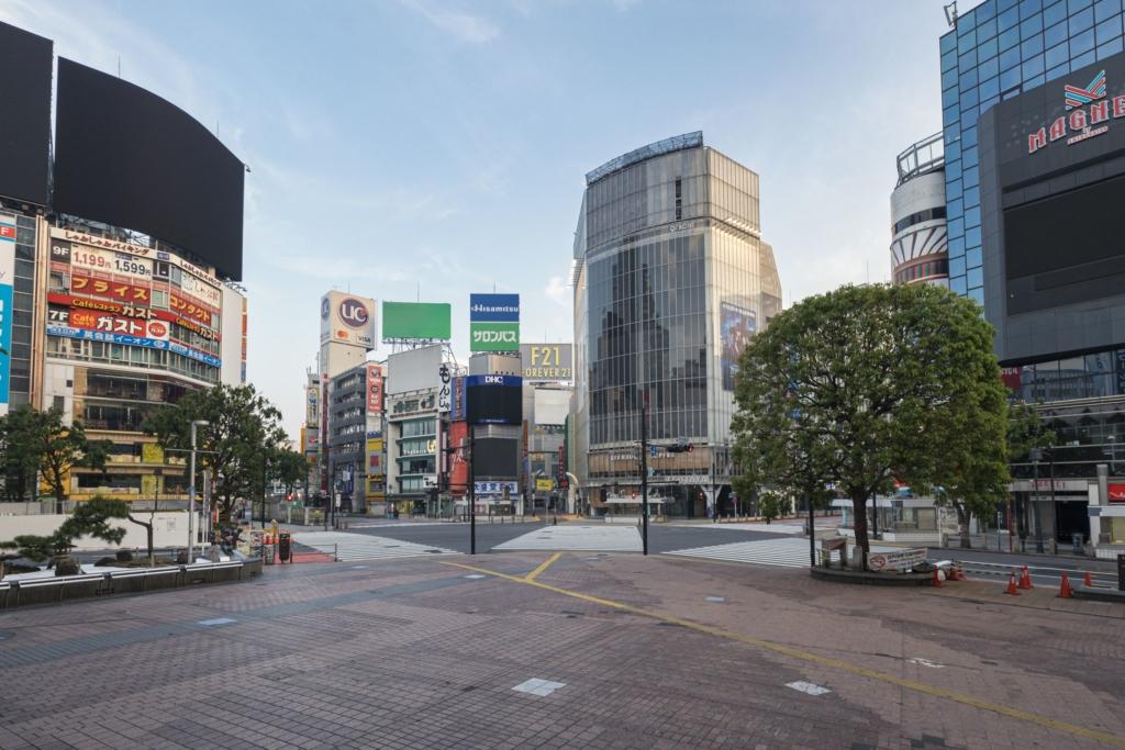 外出自粛中の渋谷