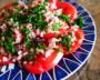 インスタ映えする「華やかトマトサラダ」。切って盛り付けるだけ!