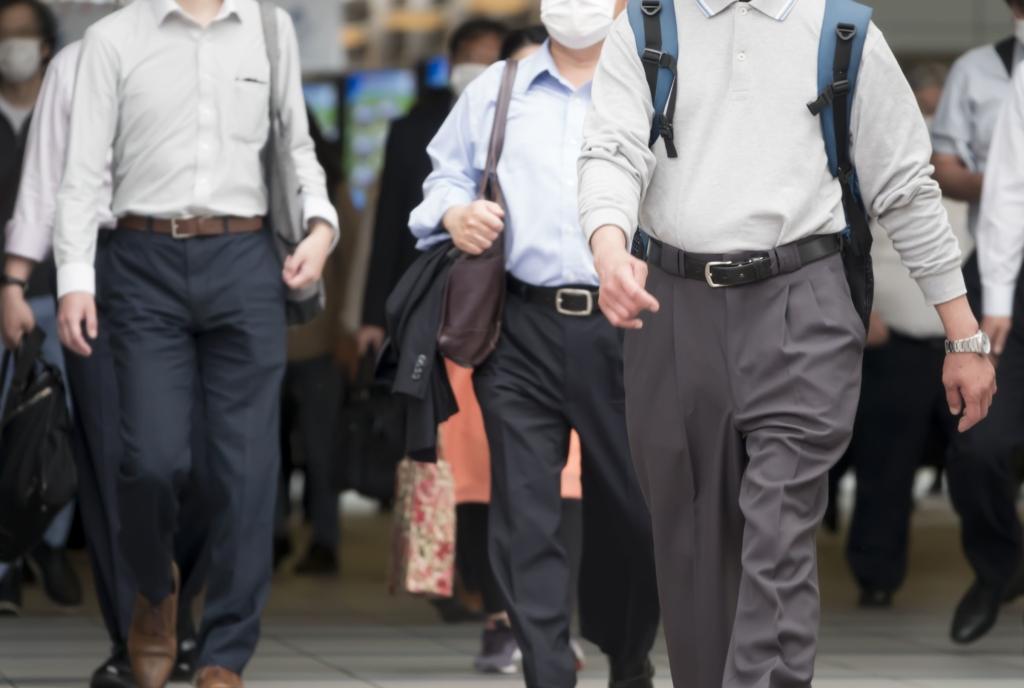 マスク 出勤