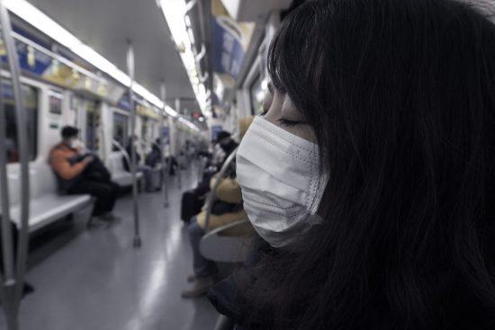 マスク 電車