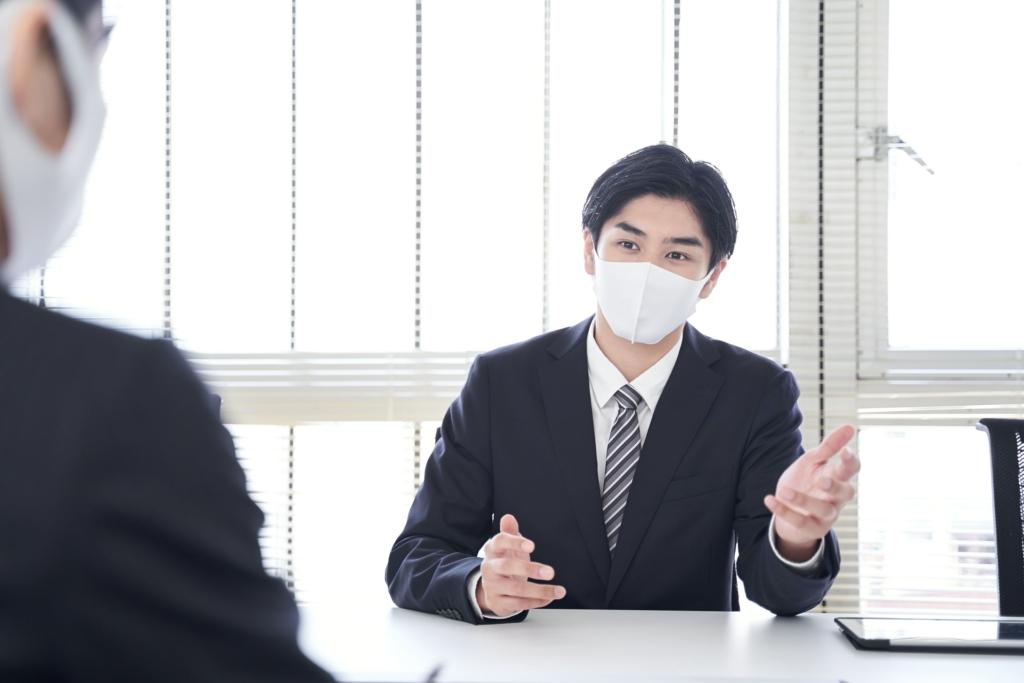 マスク 商談