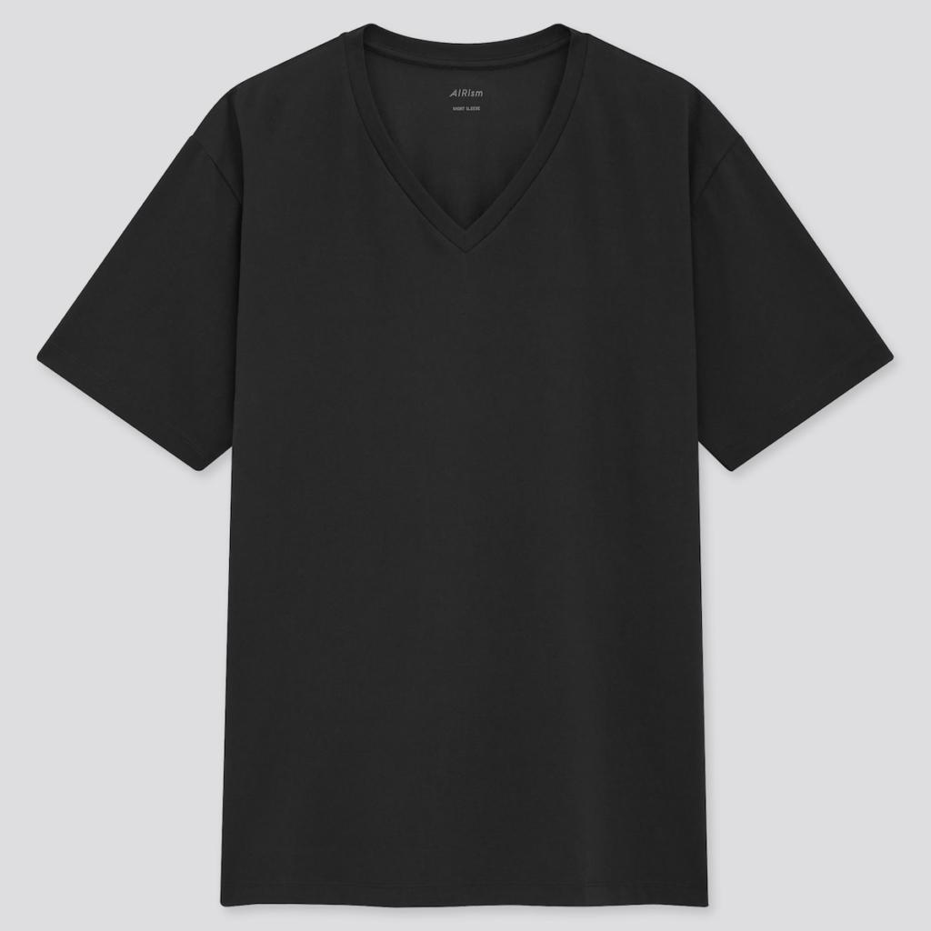 エアリズムコットンVネックTシャツ
