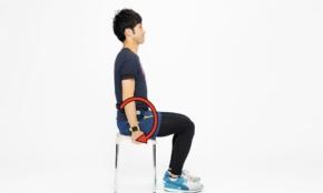 """男性にもある、骨盤の歪みと腰痛を改善。イスでできる""""お座りエクササイズ"""""""