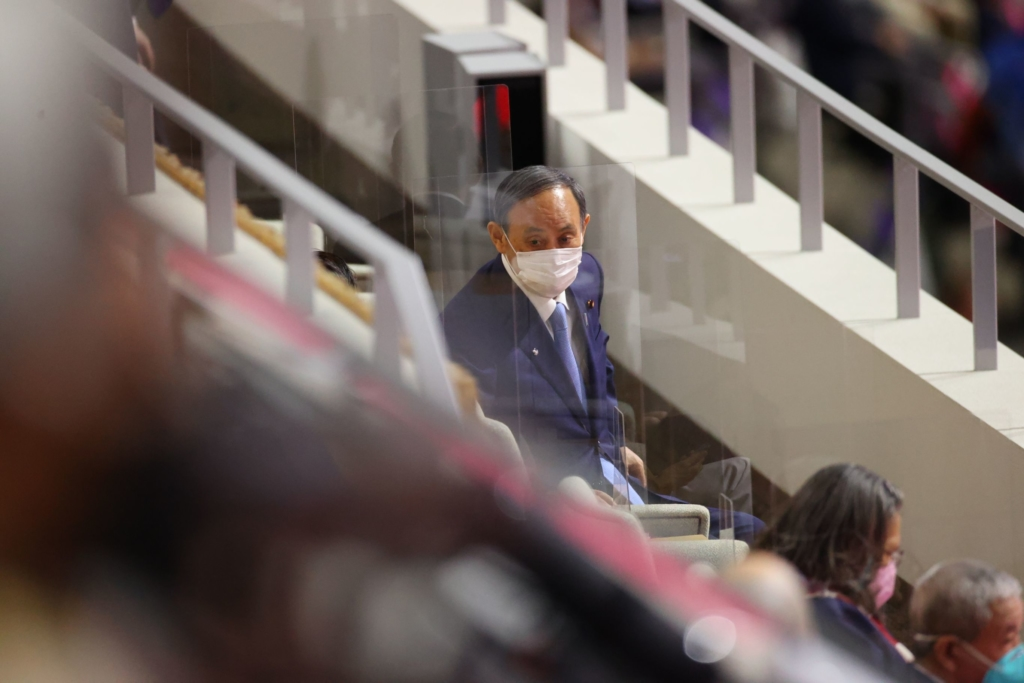 開会式の菅義偉首相