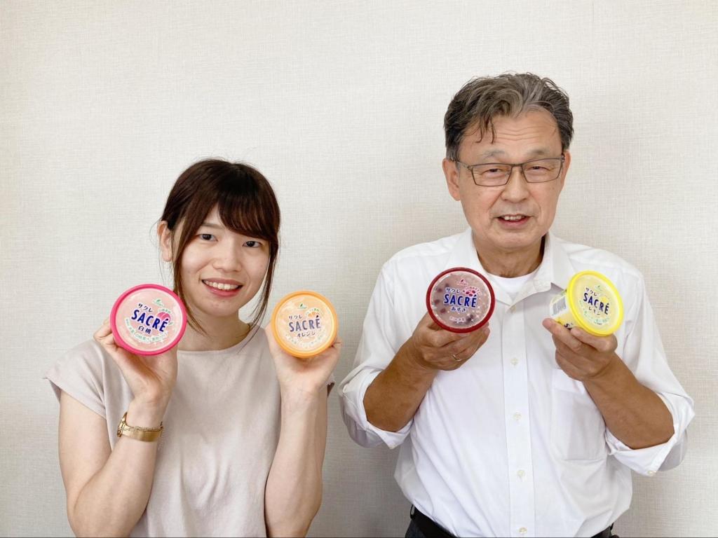 フタバ食品企画部の三上菜穂さんと齊藤龍樹部長